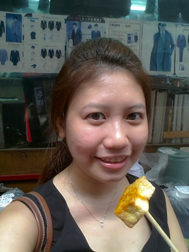 Contented with stinky tofu