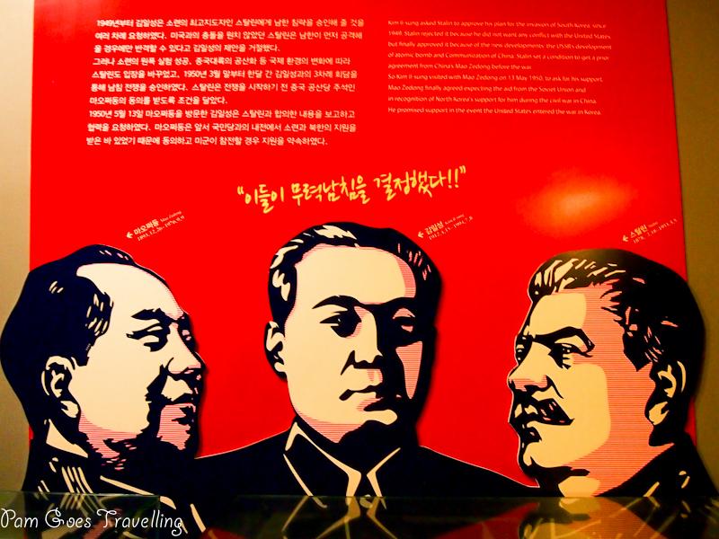 3 communist leaders - Mao, Kim and Stalin