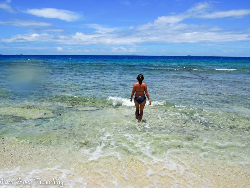 Fiji beach with clear water