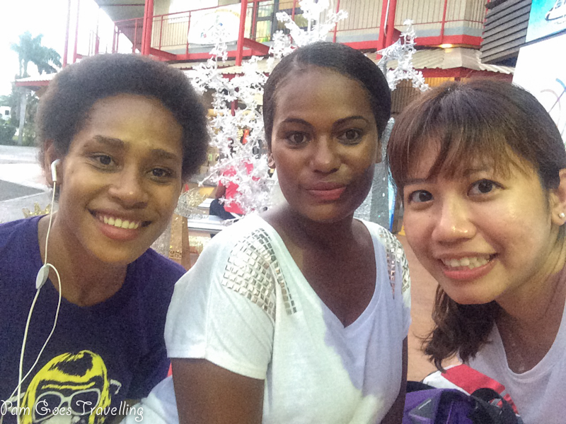With the lovely Fijians