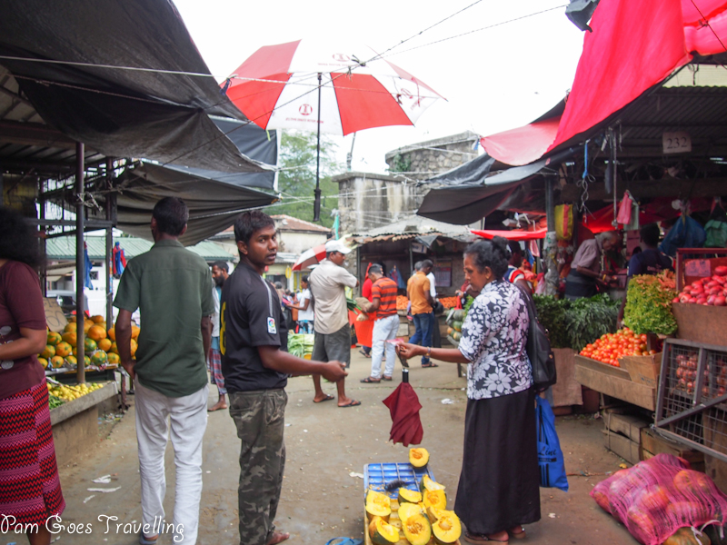 A bustling local market