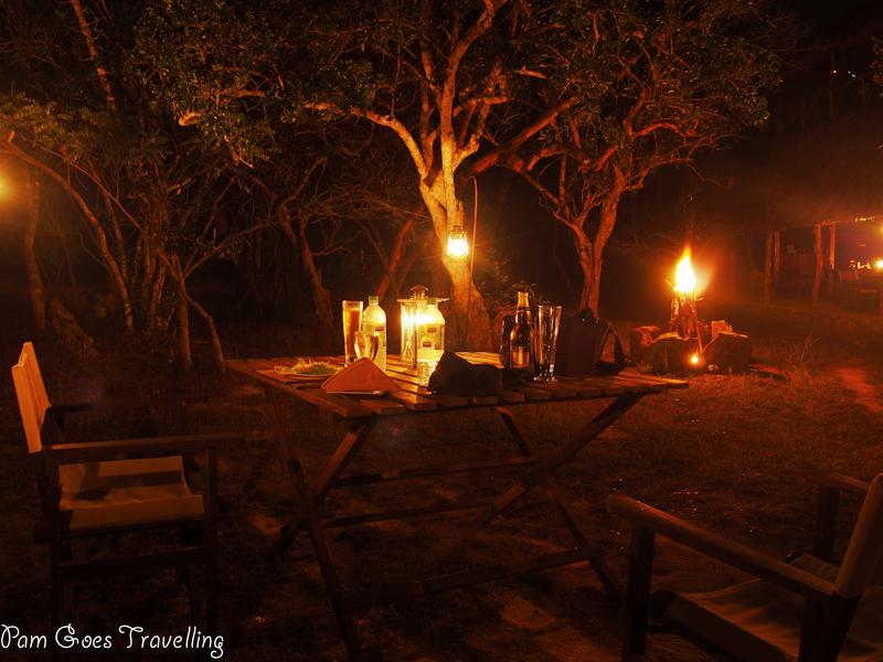 Yala Safari Camping - Romantic Dinner Setting
