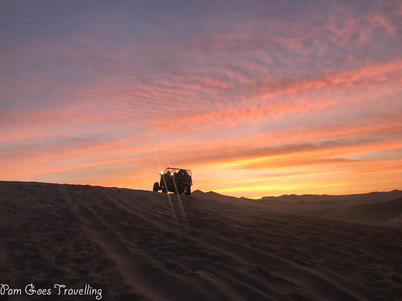 Sunset by the desert