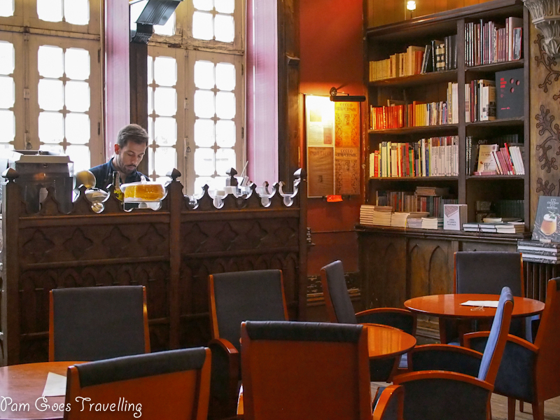 Have a cup of coffee and read at Livrario Lello