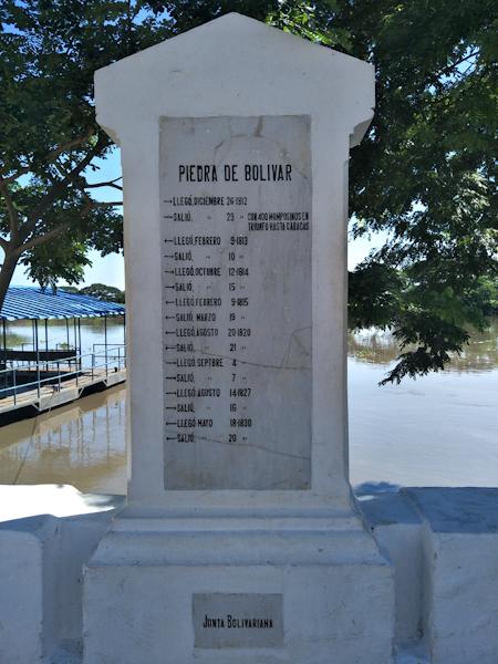 Simon Bolivar's stone