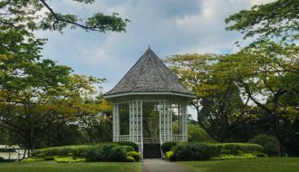 The gazebo bandstand